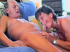 Curious and old Sofie is satisfying her brave fucker after work