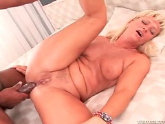 Milf wants thick black dick in her asshole