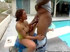 Afro Chick Pounded With Huge Dick