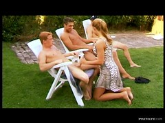 Slutty Blonde Cicile Life Banged By Three Cocks In Outdoors Foursome