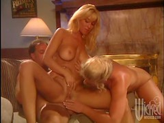 Hot Anal Sex In Threesome With Blondes Jill Kelly and Johnni Black