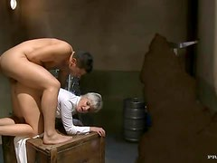 Short Haired Blonde Milf Gets Her Wet Pussy Clogged By A Big Cock
