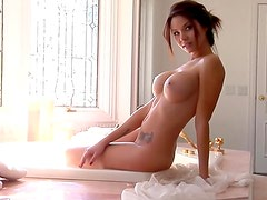 Bubble bath for Playboy beauty