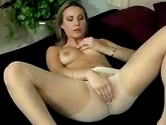 Ambrosial and sexy Harmony Rose is satisfying her pussy