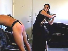 A real and rough spanking for sub guy