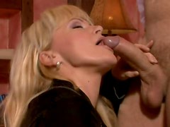 Insatiable Blonde Milf Gets Fucked As She Wears Sexy Dress
