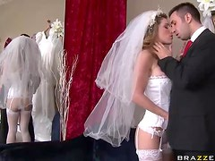 Horny Bride Gets Fucked Hard By Well Hung Shop Owner