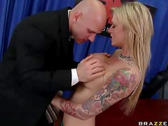 Sexy Blonde News Girls Gets Fucked On Air