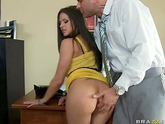 Big Breasted Babe Rachel Roxxx Gets Fucked and Facialized For a Job