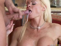 Blonde MILF With Big Tits Rhylee Richards Titty Fucks and Blowjobs