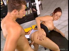 Redheaded Milf With Big Boobs Has Anal Sex With A Big Cock