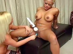 Clothes pins on her tits for pain