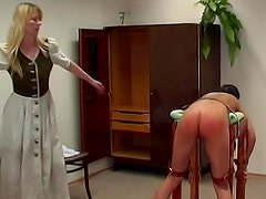 Admirable brunette with awesome backdoor wants her coach to punish her butt