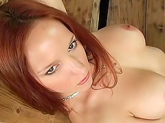 Fresh young perky tits redhead
