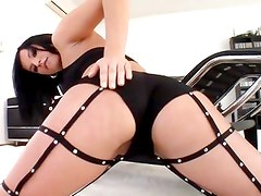 Ass fucking action with flexible butted babe