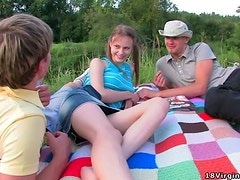 Oksana Takes Two Dicks For A Ride In The Park