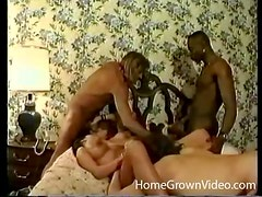 Gorgeous ladies get their holes rammed in hardcore orgy