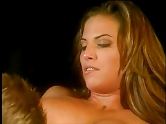 Beautiful anal brunette with big tits loves a cock in all of her holes