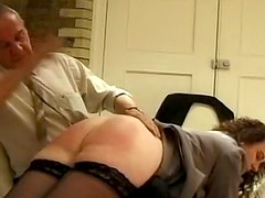 Brutal spanking and caning for three asses
