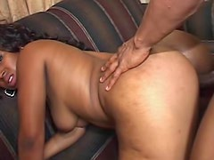 Black guy happily takes BJ from sexy slut