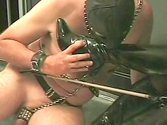 Hungry and dirty Cleopatra likes her daddy in black mask