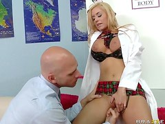 Naughty School Girl Mariah Madysinn Uses Her Big Tits To Win The Prize