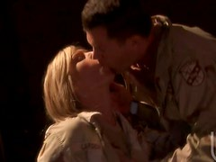Two Hot Asians and a Blonde Getting Fucked In Their Uniforms In Orgy