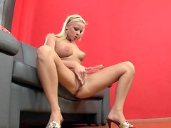 Insatiable Blonde Masturbates With A Sex Toy