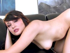 Sexy Brunette Teen Fingers Her Wet Pussy Until She Moans