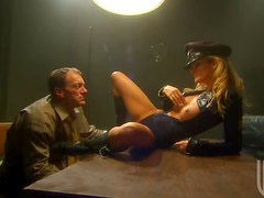 Horny Policewoman Jessica Drake Fucking and Spanking In Uniform