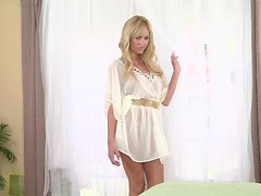 Astonishingly Gorgeous Blonde Awesome In Solo Masturbation Vid