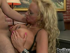 Incredibly breasty Milf will aid her son-in-law pass school