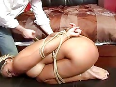 Hot Blonde Gets Bounded And Abus...