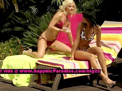 Debby and Jenny lesbo teen girls teasing