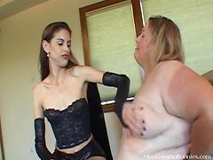 Dirty Mistress Has Her Way With a Big Lady