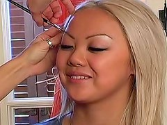 Doing makeup for an Asian blonde
