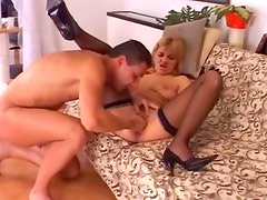 blond babe fisted and fucked hard