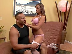 Busty goddess Claudia Valentine gets deeply fucked by big black cock