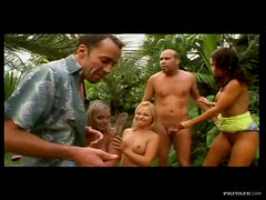 Group Sex In The Jungle Forest With Blondes Sharka Blue and Melodie