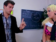 Blonde School Girl With Big Tits Lylith Lavey Fucking The Teacher