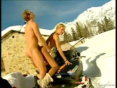 Anal Fucking With Sylvia Sun Outdoors In The Snow
