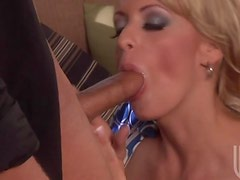 Milf Gives One Mean Blowjob To A Big Cock