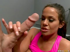 Busty Milf Gets Banged by a Big Cock While she Works Out