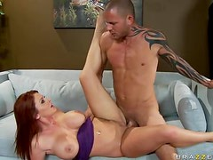 Redhead Goddess has Big Cocks Going Crazy For her Tight Pussy