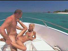 Blonde Boroka Balls Gives a Double Blowjob and Gets Fucked In a Boat