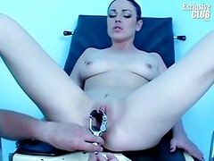 Shandi having her cookie gyno speculum examined with speculum
