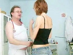 Jane gyno Fetish wet vagina speculum investigation at Kinky gyno clinic