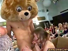 Cfnm babe gets cumshot from stripper