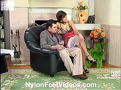 Madeleine and Monty nylon feetsex
