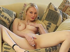 Hot sofa action with Whitney